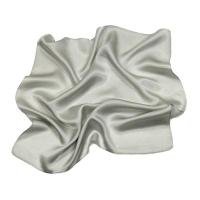 Foulard en soie gris perle carré mini 50 x 50 cm premium