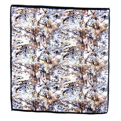 Carré de soie foulard mini beige imprimé  50 x 50 cm jena