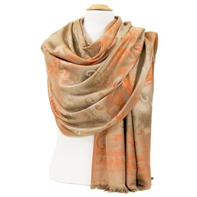 etole-en-pashmina-beige-orange-motifs-degrades-2-min