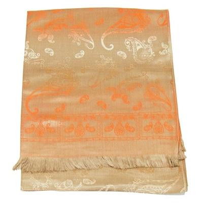 etole-en-pashmina-beige-orange-motifs-degrades-3-min