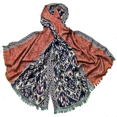 Etole pashmina tissage batik violet