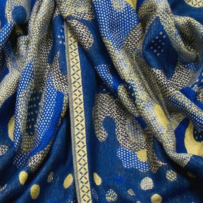 etole-pashmina-mix-pois-arabesques-bleu-vif-etf-fan-80-2 copie-min