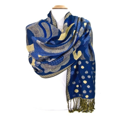 etole-pashmina-mix-pois-arabesques-bleu-vif-etf-fan-80-3 copie-min