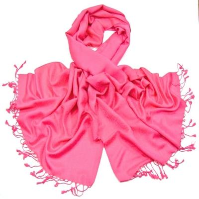 Etole rose fushia pashmina tissage damassé