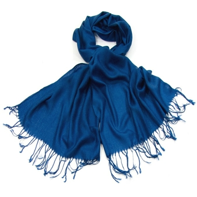 Etole pashmina bleu marine