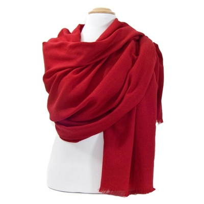 Etole laine rouge foncé fine et douce premium