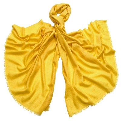 Etole laine jaune fine et douce premium