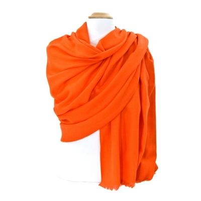 Etole laine orange fine et douce premium