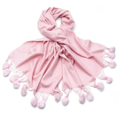 Etole rose en pure laine et fourrure
