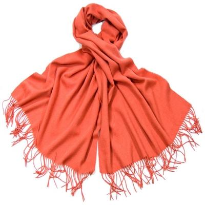 Etole orange pastel en laine
