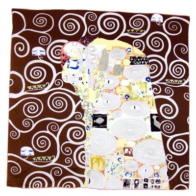 Foulard en soie carré artysilk L'accomplissement Klimt