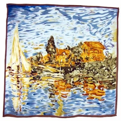 Foulard en soie carré artysilk Régate à Argenteuil Monet