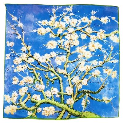 Foulard en soie carré artysilk amandier en fleurs Van Gogh