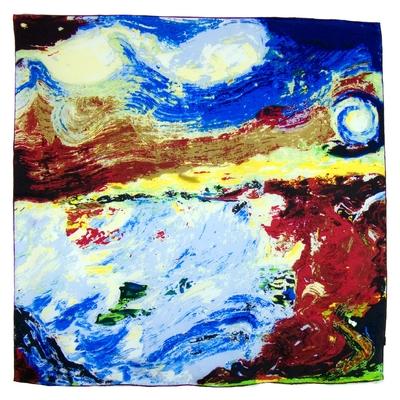 Foulard en soie carré artysilk paysage fauvisme