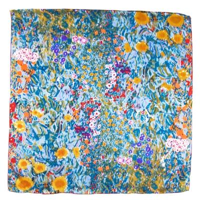Foulard en soie carré artysilk jardin impressionnisme