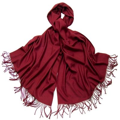 Etole rouge bordeaux cachemire et laine Edition limitée