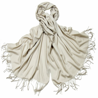 Etole blanc grisé cachemire et laine Edition limitée