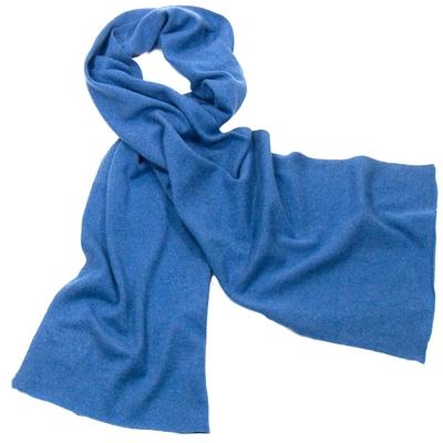 Echarpe bleu jeans en cachemire J and W