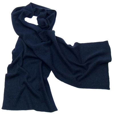 Echarpe en cachemire bleu mairne J and W