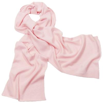 Echarpe rose pastel en pur cachemire J and W