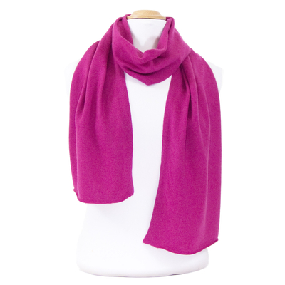 Echarpe rose fushia en cachemire J and W