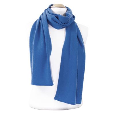 Echarpe cachemire bleu moyen J and W