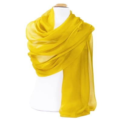 Etole jaune or mousseline de soie grand format