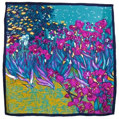 Carré de soie artysilk Vincent Van Gogh Les Iris prune
