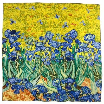 Carré de soie artysilk Vincent Van Gogh Les Iris bleus