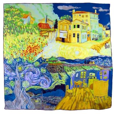 Carré de soie artysilk 4 tableaux impressionnistes