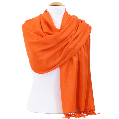 Etole pashmina orange uni Sacha