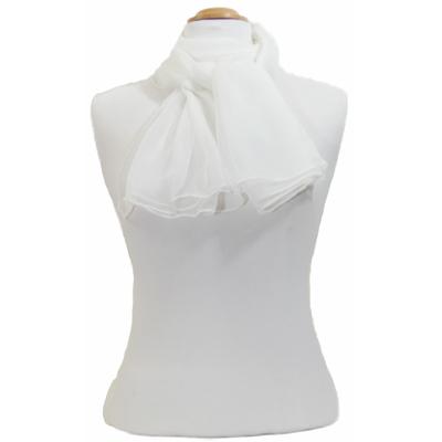 Foulard blanc mousseline de soie