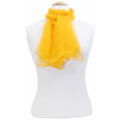 Foulard orange mousseline de soie