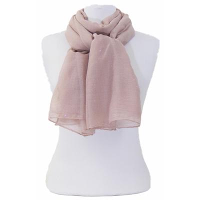 Foulard taupe rosé fines paillettes