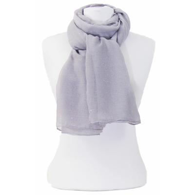 Foulard gris fines paillettes