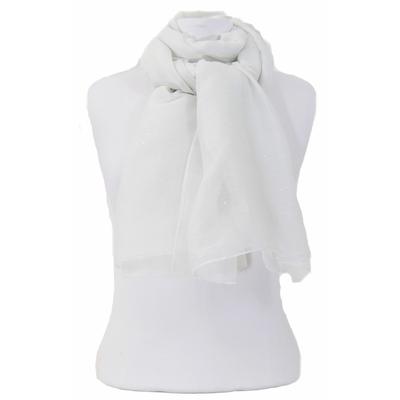 Foulard blanc fines paillettes