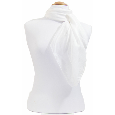 Carré en soie blanc Palme