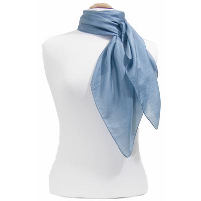Carré en soie bleu gris Palme