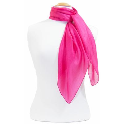 Carré en soie rose fushia Palme