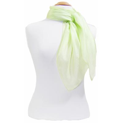 Carré en soie vert anis Palme