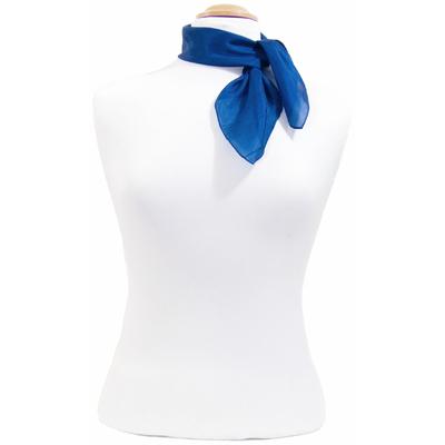 Carré en soie mini bleu Palme