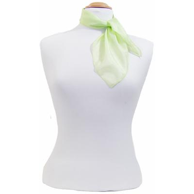 Carré en soie mini vert anis Palme