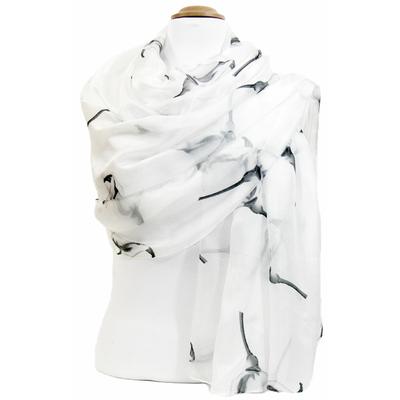 Etole en soie blanc arums