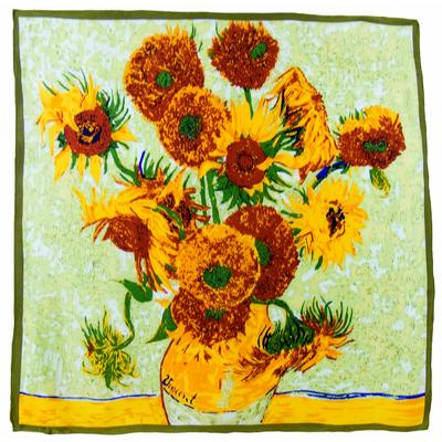 Carré de soie artysilk Les tournesols Van Gogh