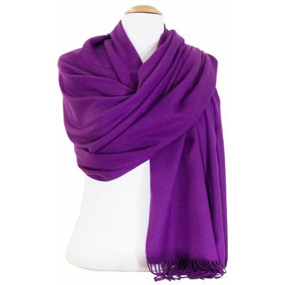 Etole cachemire laine violet Charlie