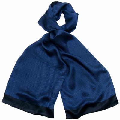Foulard soie homme bleu Antoine