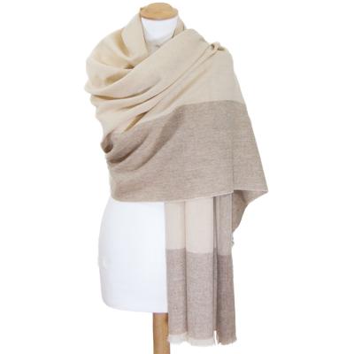 Etole beige cachemire laine carreaux Célia