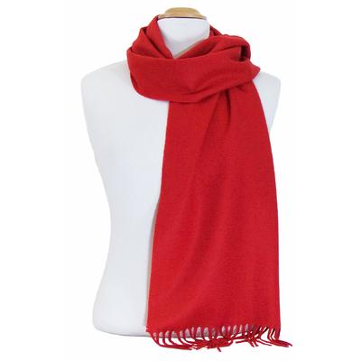 Echarpe rouge cachemire Driss