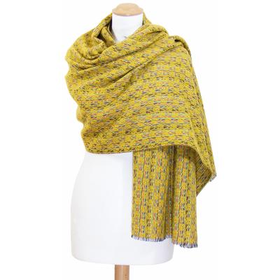 Châle laine jaune Inés