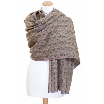 Châle laine beige Inés
